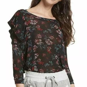 New Free People Floral Print Blouse Size Large